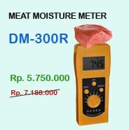 Alat ukur kadar air daging dm300r
